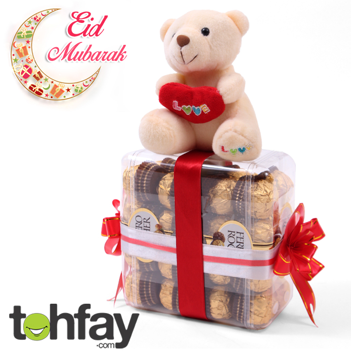 Cute Teddy With Choclates