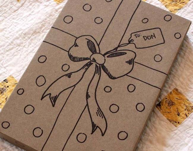 Gift wrap diy tohfay blog worry not grab a marker and draw one yourself easy peasy and super chic solutioingenieria Image collections