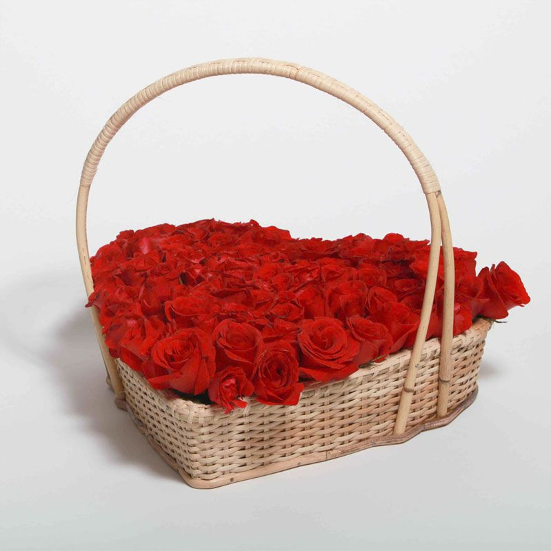 Heart Basket Filled with Flowers