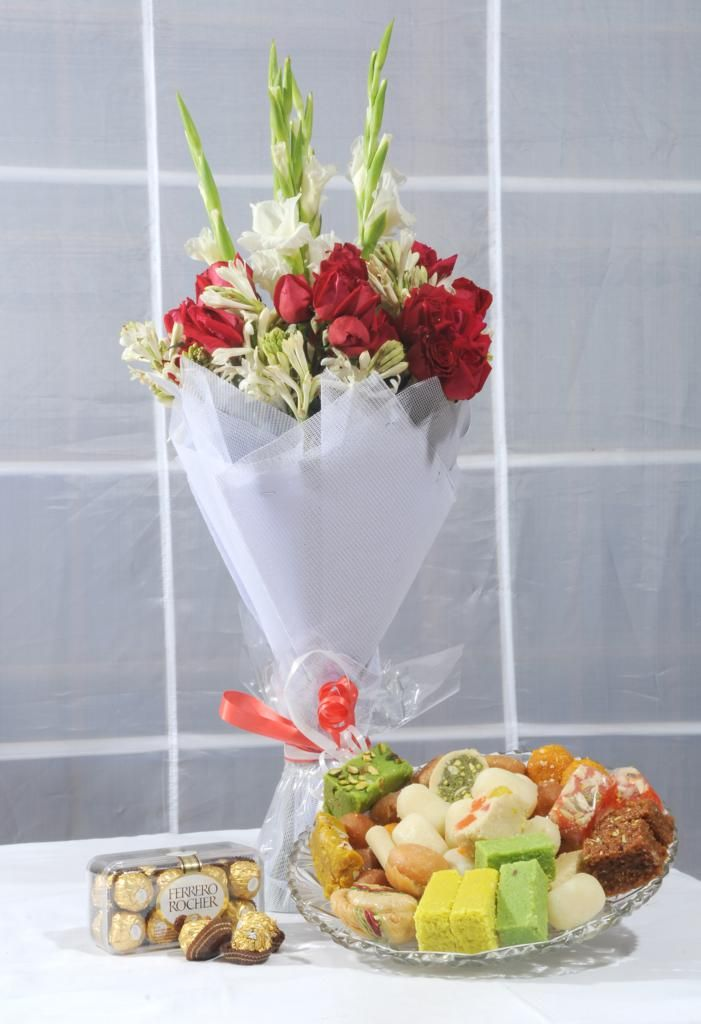 Flowers, Mithai and Chocolates