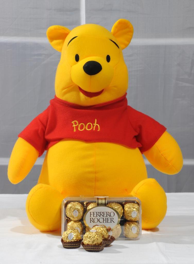 Pooh with Ferrero Rochers