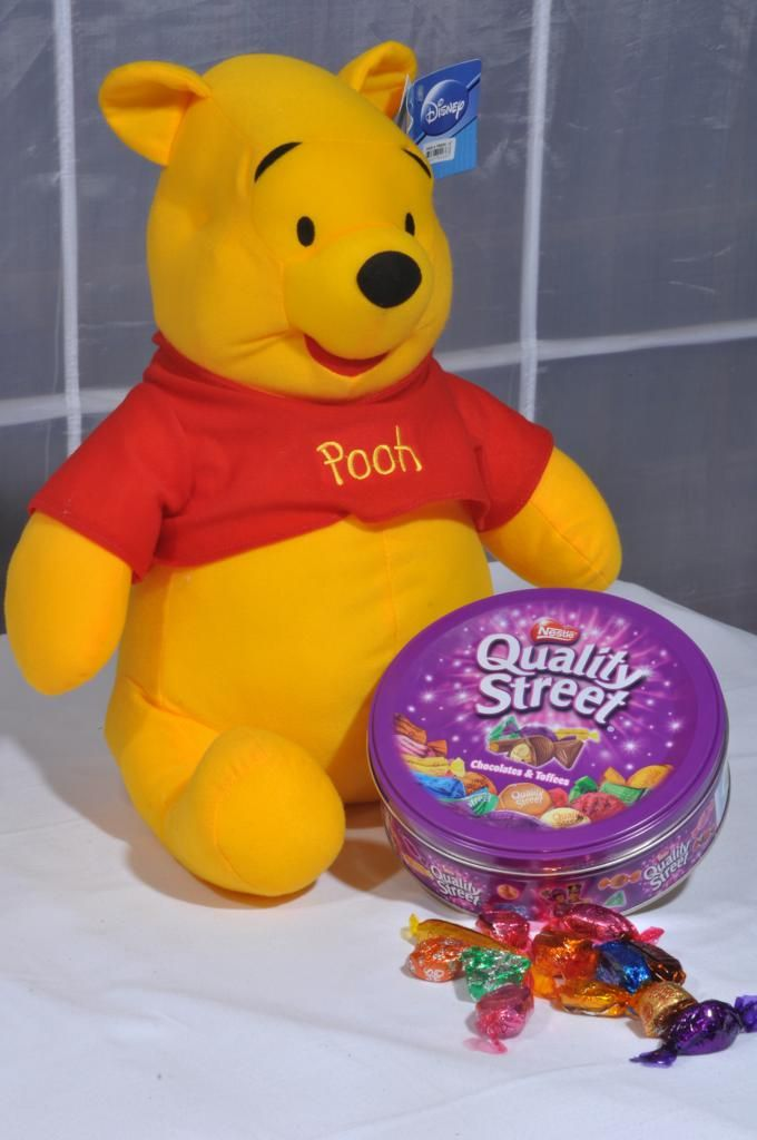 Pooh with Quality Street