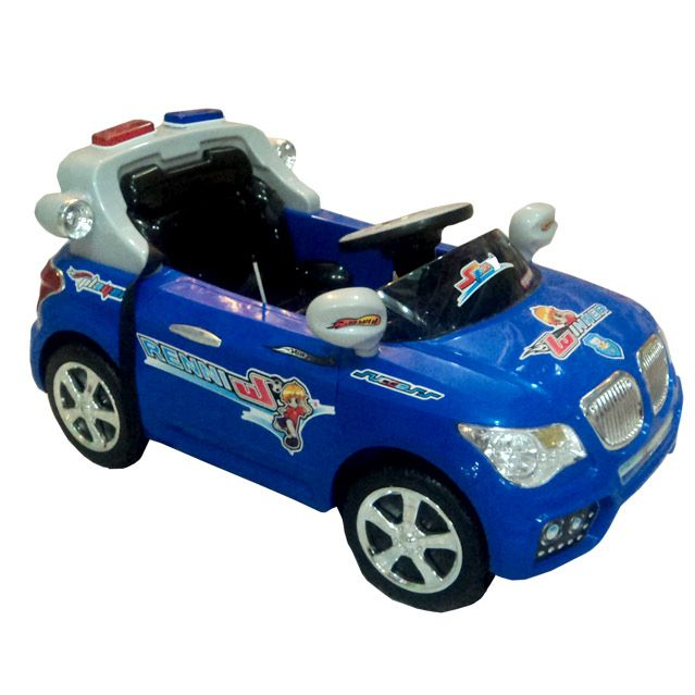 Battery Operated Blue Car