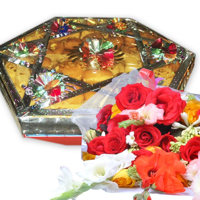 Mithai Tokra 8Kg With Bouquet