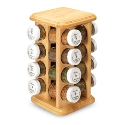 Masala Jars With Wooden Stand