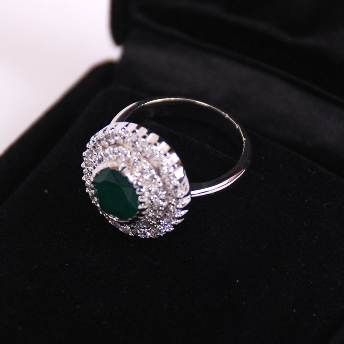 Green Sterling Silver ring