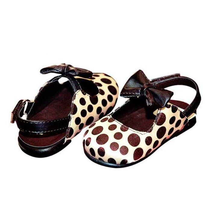 Polka bow sandals