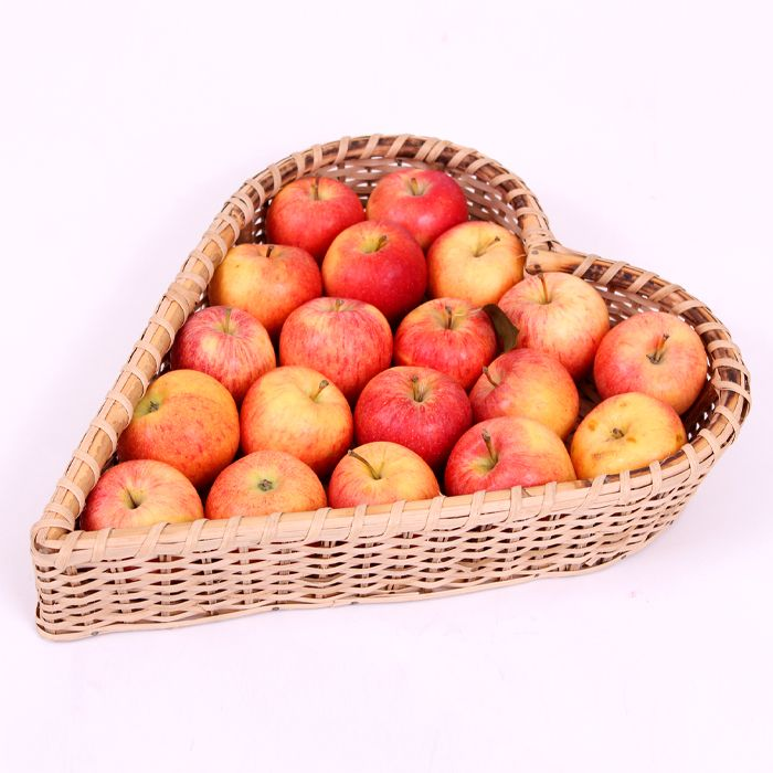 Apples In A Heart Basket