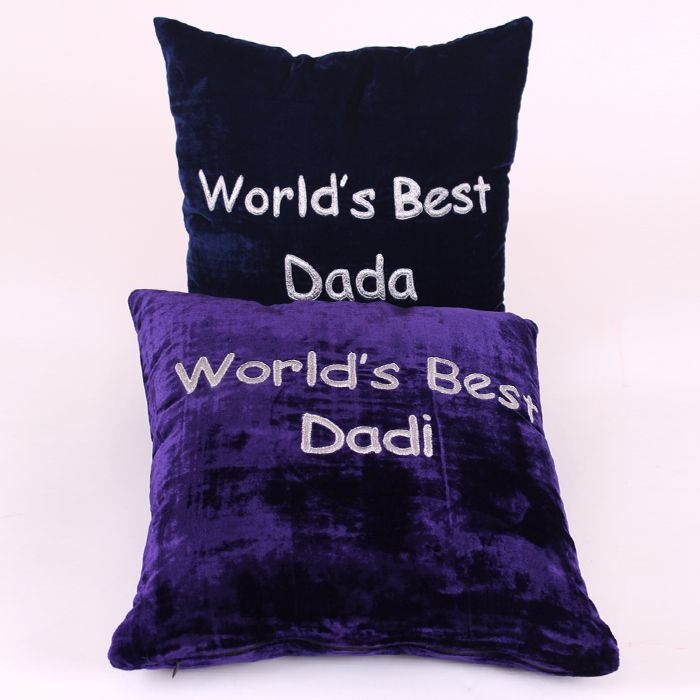 World's Best Daada & Daadi Cushion