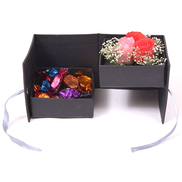 Roses with Chocos in a Box