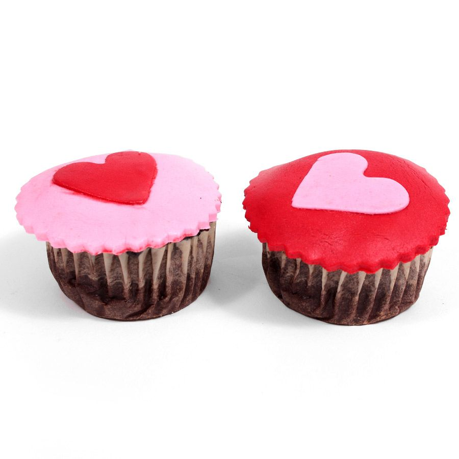Heart Cup Cakes 6 Pcs