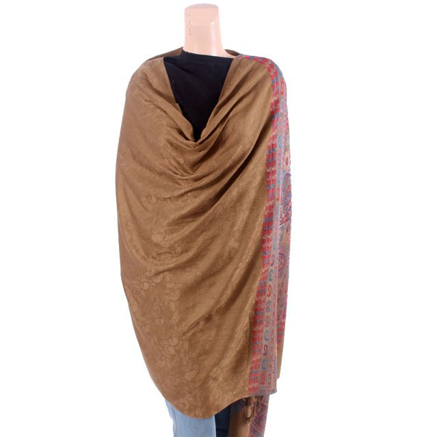 Brown Textured Shawl