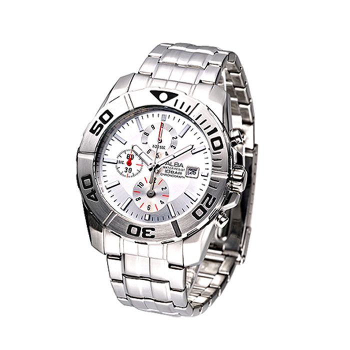 Alba Stainless Steel High Rim Watch