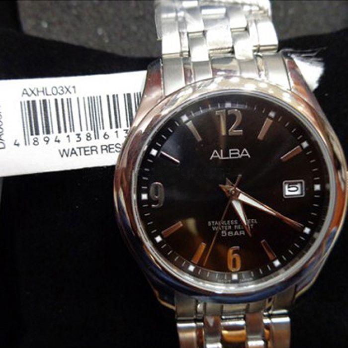 Alba Brown Rim Watch