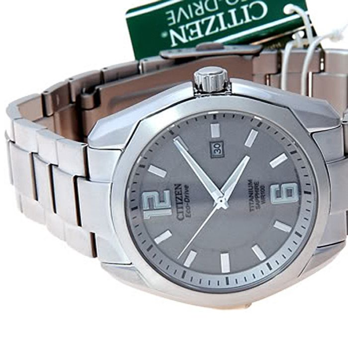 Citizen Circular Plain Stainless Steel Watch