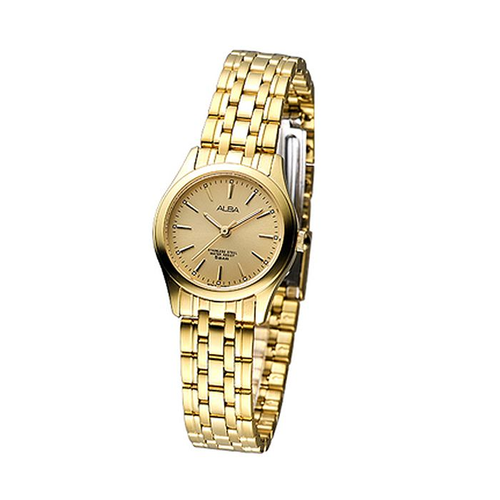 Alba Slim & Gold stainless Steel Watch