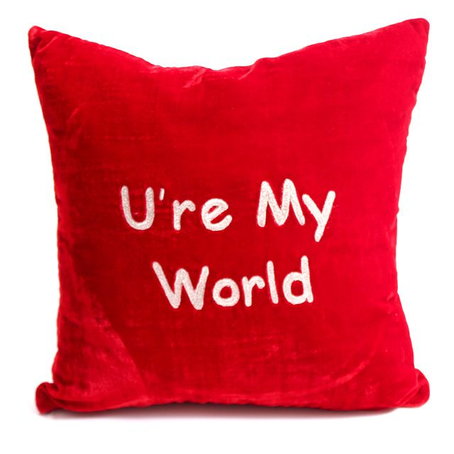 U're My World Pillow