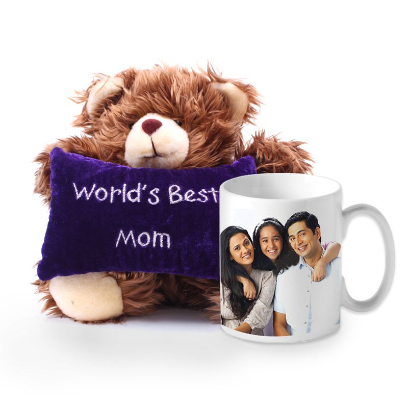 Teddy Bear with Picture Mug