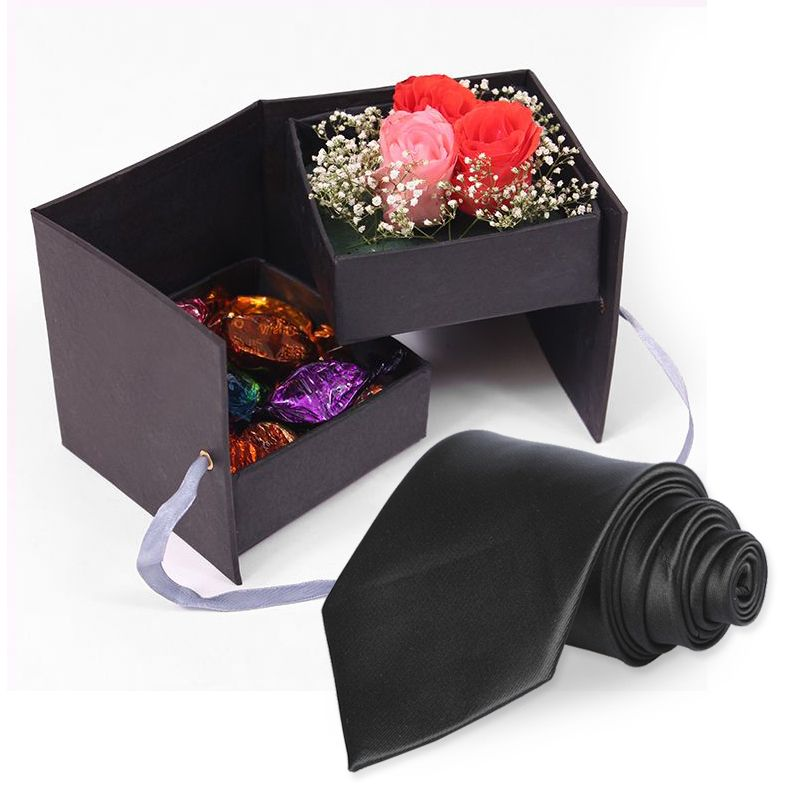Roses In a box with Tie