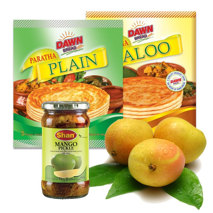 Mangoes with Pickle and Paratha