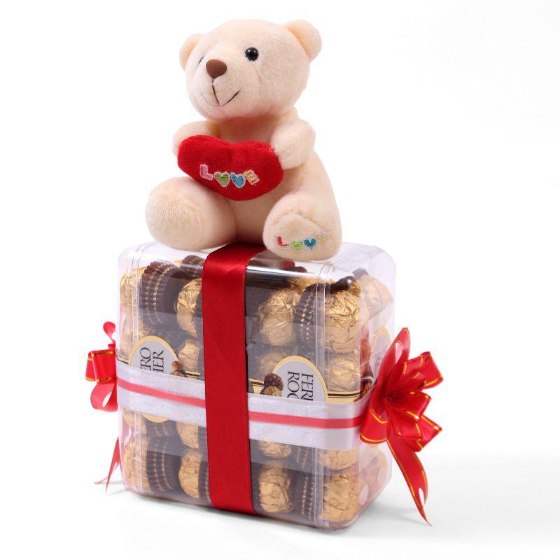 Teddy Bear with Ferrero Chocolates