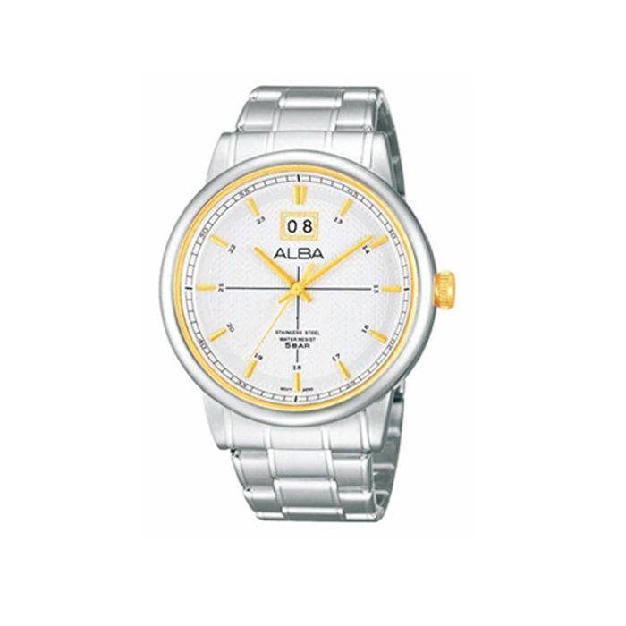 Alba Stainless Steel White Watch