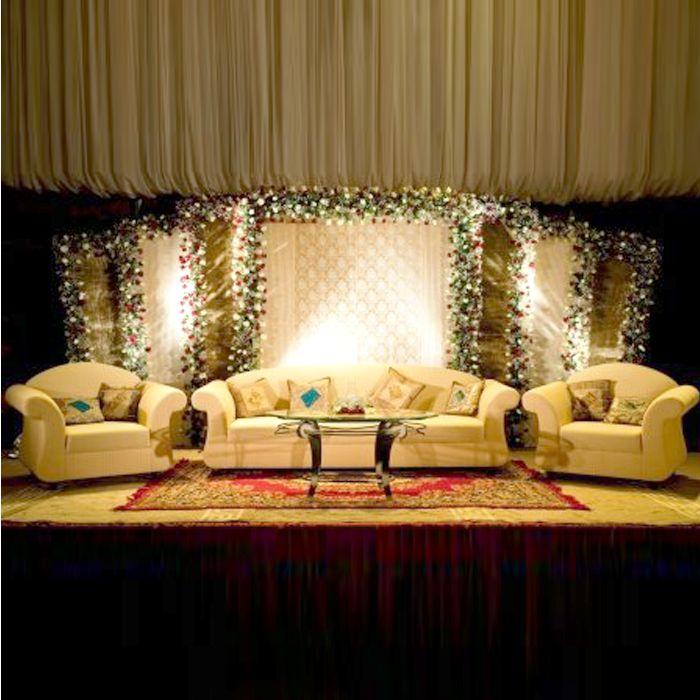 White & Cream Wedding Stage