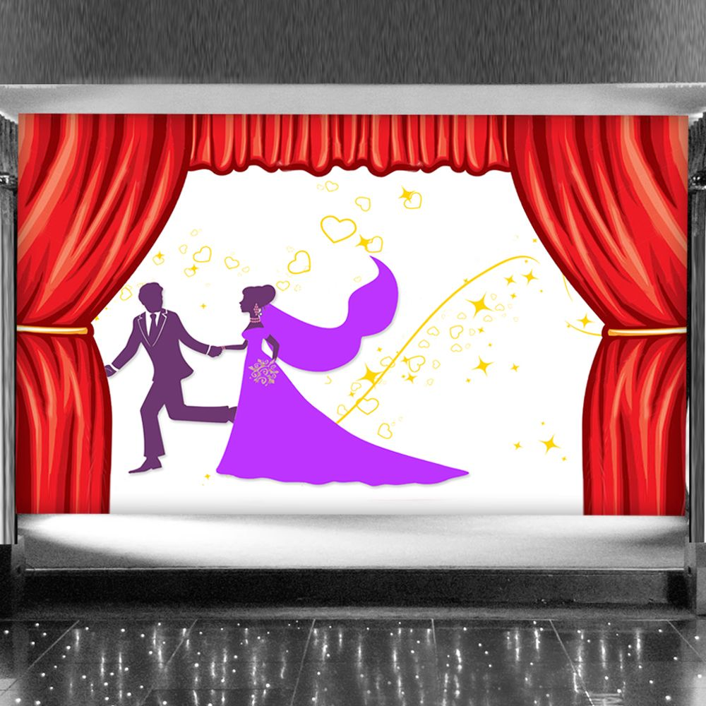 Classic Wedding Affair with Stars - Stage Bac