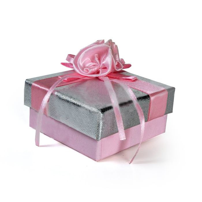 Pink & Silver Favour Box
