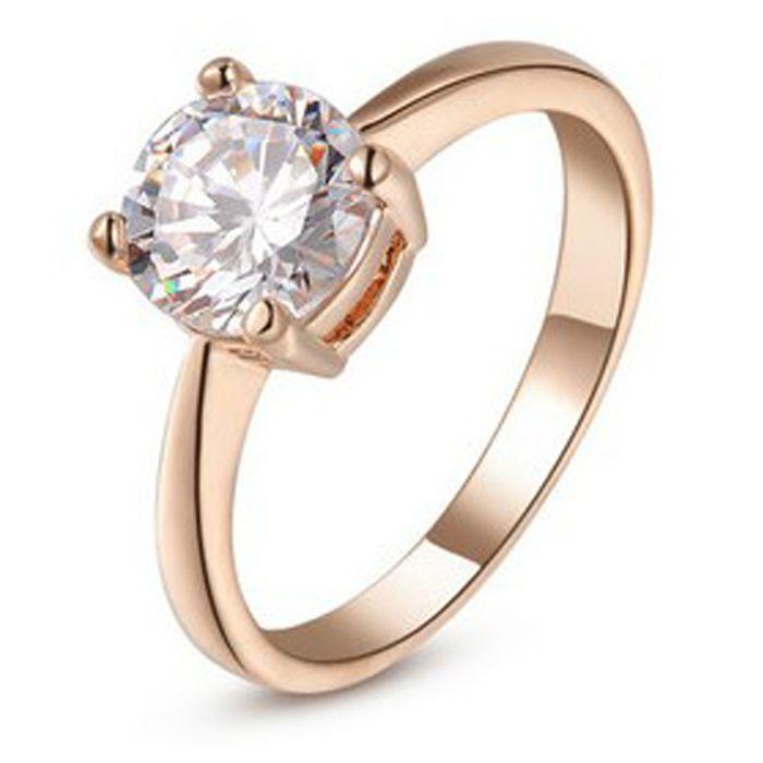 Gold Plated Austrian Zircon Ring