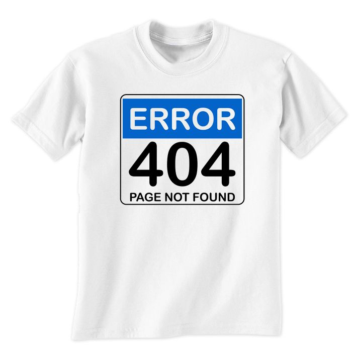 Error 404 Page Not Found T-Shirt