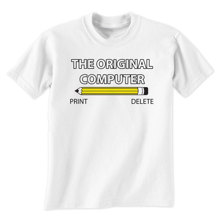 The Original Computer Print & Delete T-Shirt