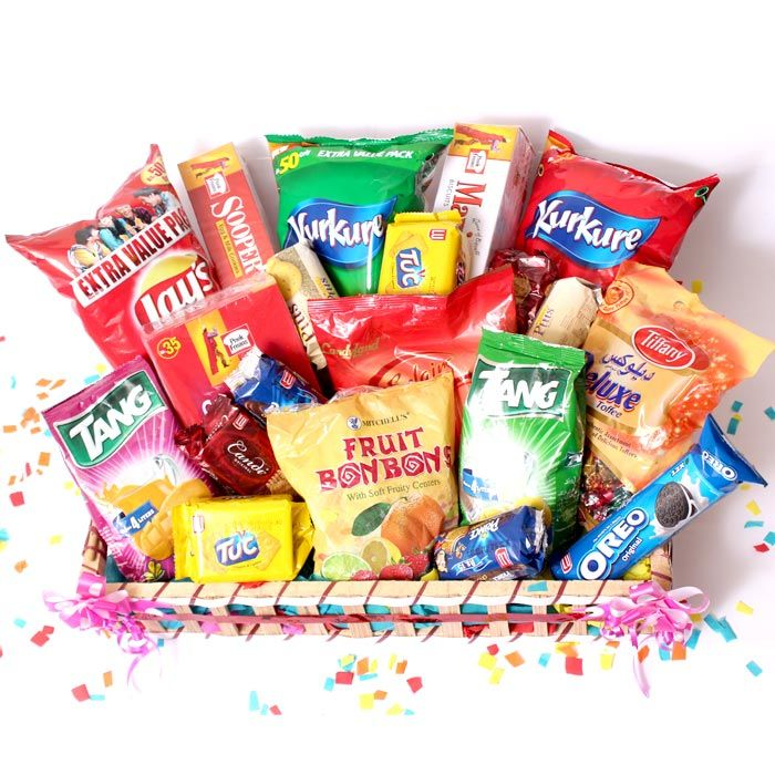 Snacks & Candies Gift Basket