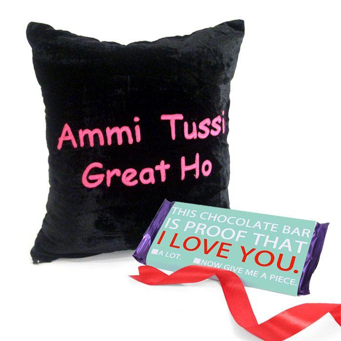 Cushion With Chocolate Bar