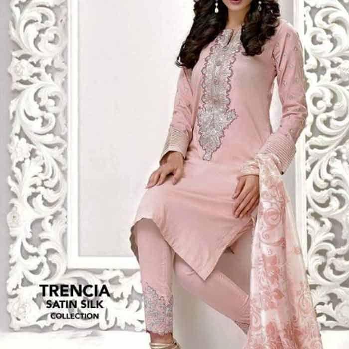 Pink Cotton Silk Suit