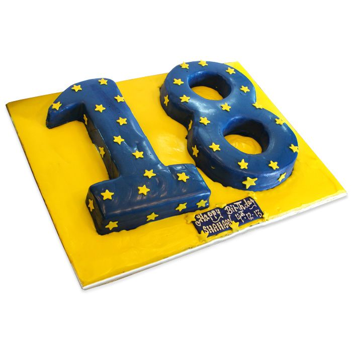 Number 18 Cake