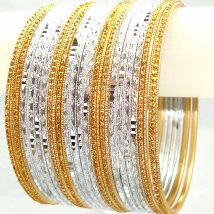 Indian Kangan Golden & Silver