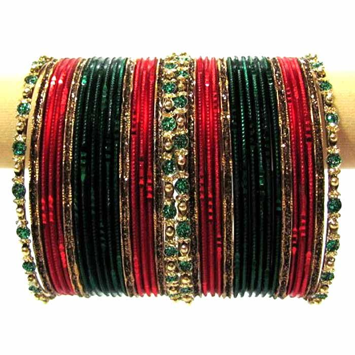 Red & Green Choori Set