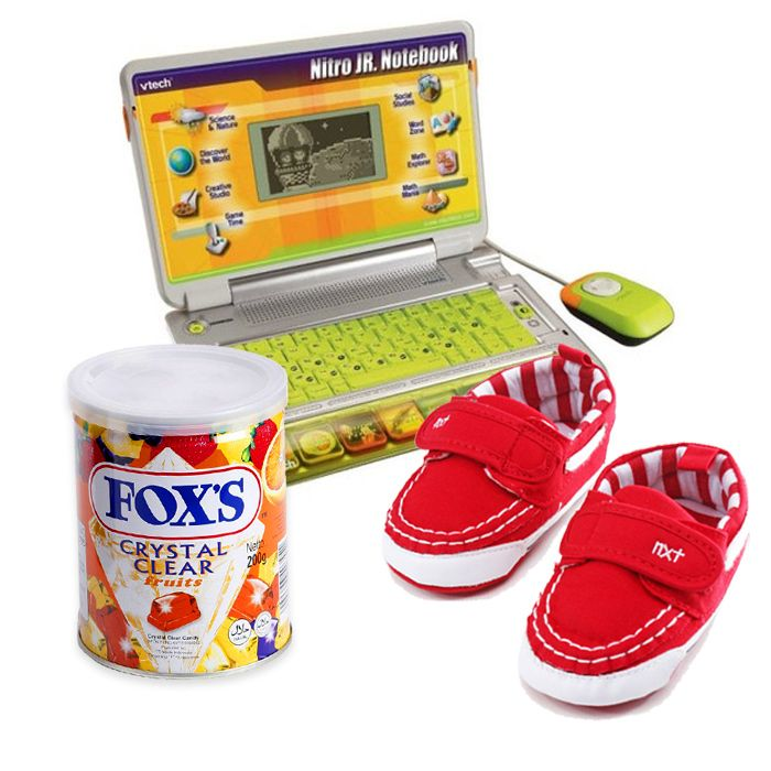 Jr Notebook With Fox Candy Tin & Shoes for a