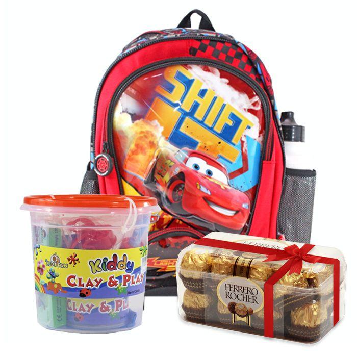 School Bag With Clay & Ferrero Rocher Box