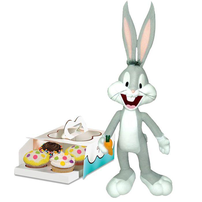 Cinnabon Cupcakes With Bugs Bunny