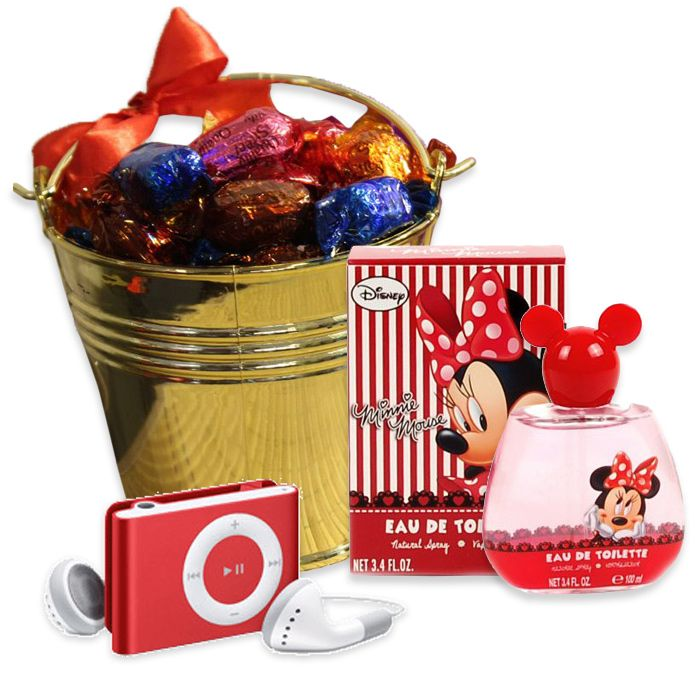 Quality Street Bucket With Minnie Perfume & I