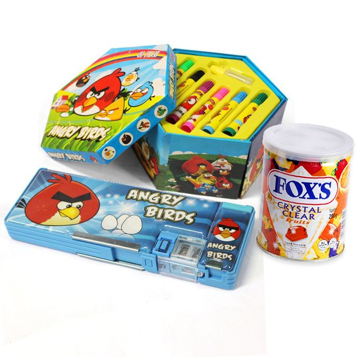Fox Candy Tin With Marker & Stationary Box