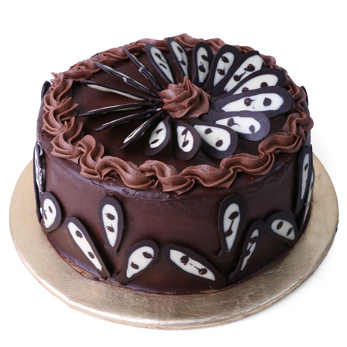 Dark chocolate Frosted Cake From Donutz Gonut