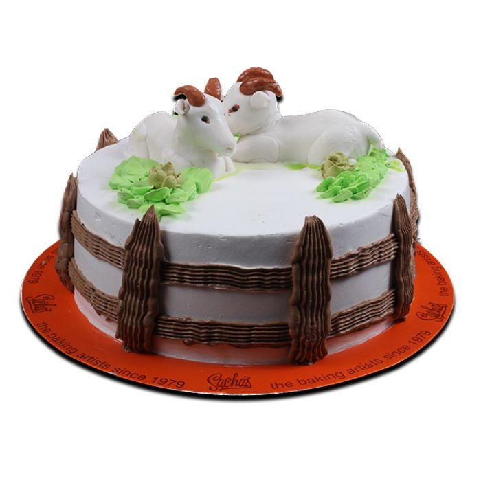 Bakras on Top -Eid Cake