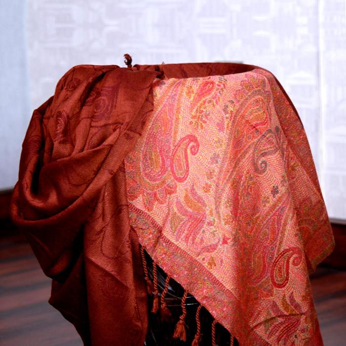 Dark Brown Jamawar Shawl