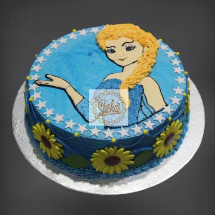 Elsa Theme Cake 4lbs