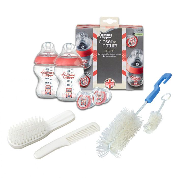 Essential Brushes and Bottle for Baby