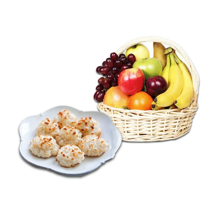 Khopra Biscuits & Fruit Basket