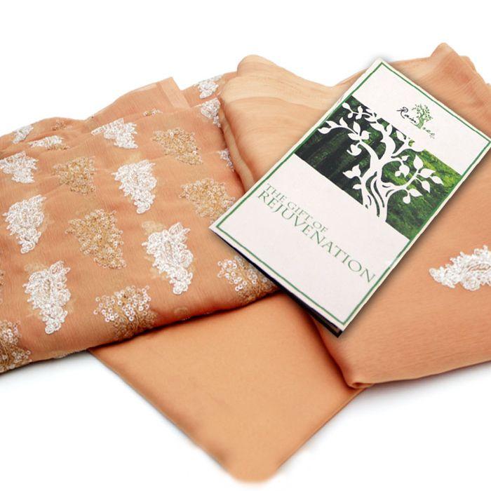 Brown Chiffon Suit with RainTree Spa Voucher